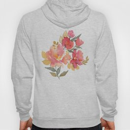 Delicate florals. Watercolor flowers. Lovely bouquet for girl. Hoody