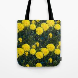 LOVE FIRST SPRING YELLOW DANDELIONS Tote Bag