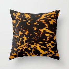 Art Deco polished Tortoise Shell Throw Pillow