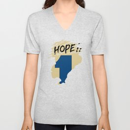 Hope!! (time machine ) Unisex V-Neck