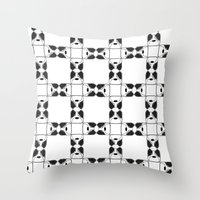 terrier Throw Pillows featuring Terrier by Janae Hall