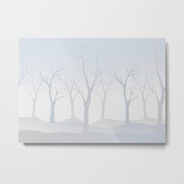 Pattern with trees Metal Print