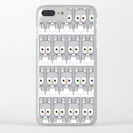 Silver Grey Bunny Rabbit - Super Cute Animals Clear iPhone Case
