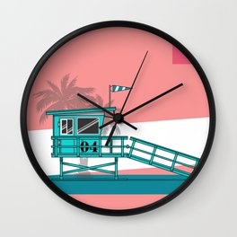 Lifeguard Stand Wall Clock