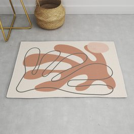 Organic abstract inspired by matisse Rug