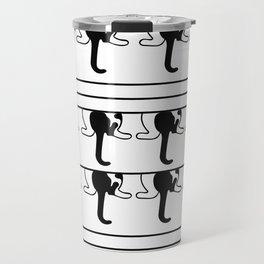 Black and White Kitty Cat Swag Kitty Travel Mug