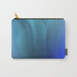 Blue waved Carry-All Pouch