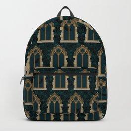 Gothic Halloween Windows // Blue Backpack