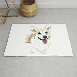 Corgi dog Rug
