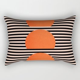 Abstraction_SUNSET_LINE_ART_Minimalism_001 Rectangular Pillow