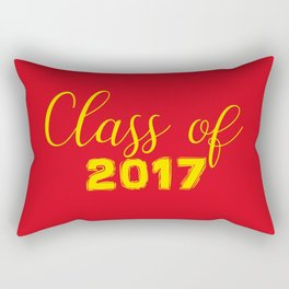 2017 Grads - Red and Yellow Rectangular Pillow