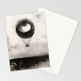 Olion Redon Eye Balloon Illustration Stationery Cards