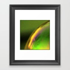 Golden green Framed Art Print