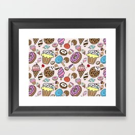 Desserts and Sweets Framed Art Print