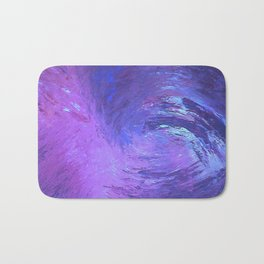 Abstract Blue Storm  by Robert S. Lee Bath Mat