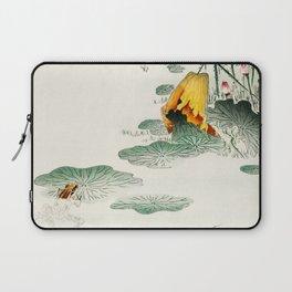 Frog in the swamp  - Vintage Japanese Woodblock Print Art Laptop Sleeve