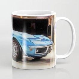 Vintage 1969 Ocean blue 427 Stingray Vette Big Block Coffee Mug
