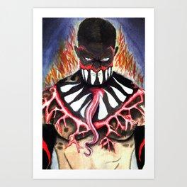 Finn Bálor - Body Paint NXT Take Over [R]ival Art Print