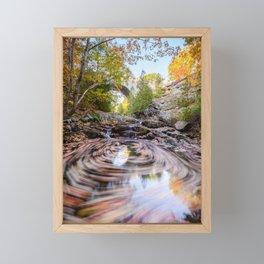 New England Autumn Leaves Acadia National Park Landscape Framed Mini Art Print