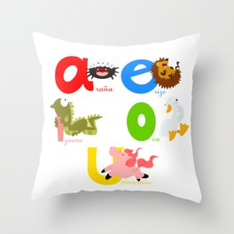 Vowels (spanish) Throw Pillow