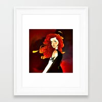 mortal instruments Framed Art Prints featuring Clary Fray from The Mortal Instruments by Cassandra Clare by Amitra Art
