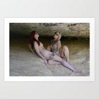 Cave Dwellers Art Print
