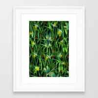 fireflies Framed Art Prints featuring fireflies by kociara