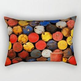 Gasoline Rusty Tin Cans Pattern Rectangular Pillow