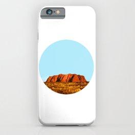 uluru polygon iPhone Case