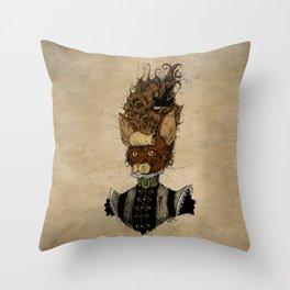 High-Class Victorian Cat Throw Pillow