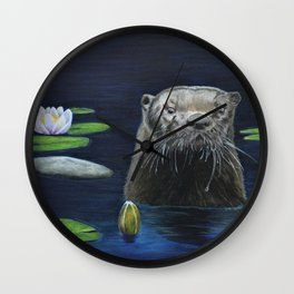 The River Otter by Teresa Thompson Wall Clock