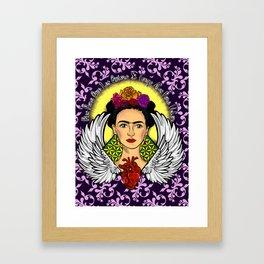 "Frida Kahlo ""Alas"" Framed Art Print"