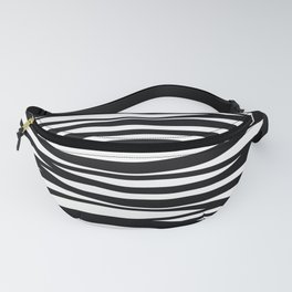 graphic Design Wave Stripes white Fanny Pack