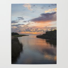 Sound Side Sunset Poster