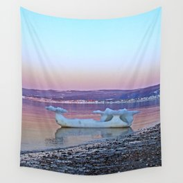 Viking Ice Ship Portrait Wall Tapestry