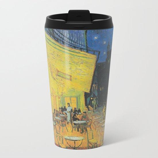 Cafe Terrace at Night by Vincent van Gogh Metal Travel Mug
