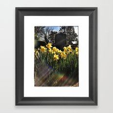 Graveyard Flowers Framed Art Print