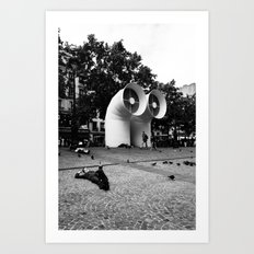 Paris beaubourg Art Print