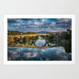 Bridge of Reflections Art Print