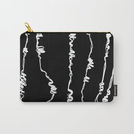 Barbed, wire, minimal, industrial, monochrome, graphic, Carry-All Pouch