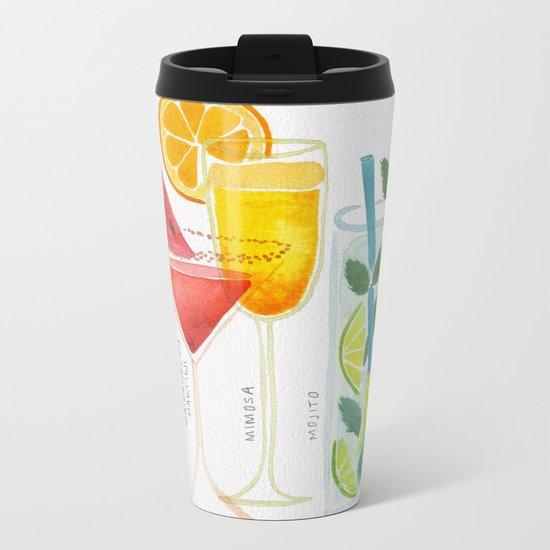 Summer Cocktail Trio Metal Travel Mug