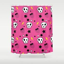 strawberry skulls! Shower Curtain