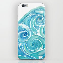 Watercolor Waves iPhone Skin