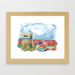 south rim // arizona landscape watercolor Framed Art Print