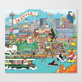 Seattle cats Canvas Print