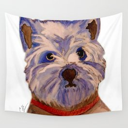 West highland terrier Westie dog love Wall Tapestry