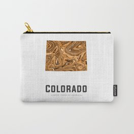 Colorado - State Map Art - Abstract Map - Brown Carry-All Pouch