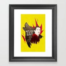 Sterek: Who's Afraid of the Big Bad Wolf? Framed Art Print