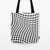 wave Tote Bags featuring Wave by fly fly away