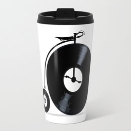 Penny Farthing With Vinyl Records Travel Mug